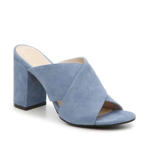 c0d04c3e9dcf Cole Haan Shoes - Cole Haan Gabby Sandal Light Blue Suede
